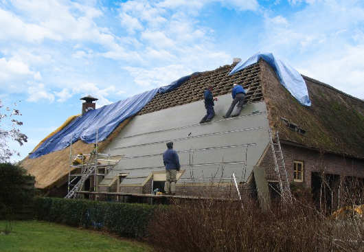 voordelen gesloten constructie rieten dak